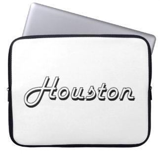 Houston Classic Retro Name Design Laptop Computer Sleeves