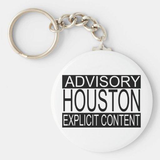 Houston contenta explícita (llavero