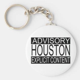 Houston contenta explícita (llavero llavero redondo tipo pin