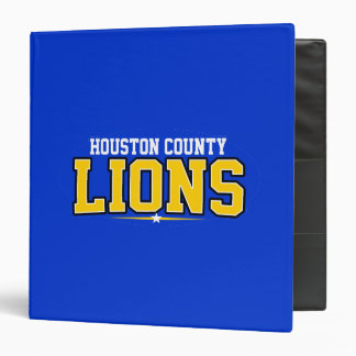 Houston County High School; Lions 3 Ring Binder