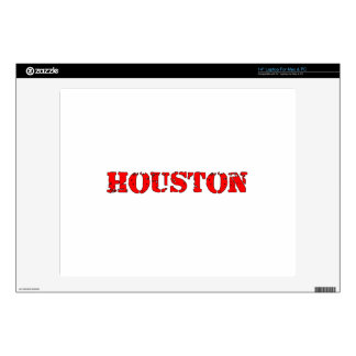 """Houston Decals For 14"""" Laptops"""