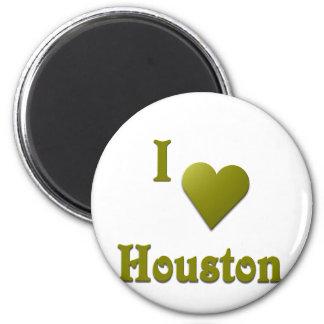 Houston -- Deep Green Magnet