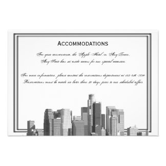 Houston Destination Wedding Accomodations Personalized Announcements