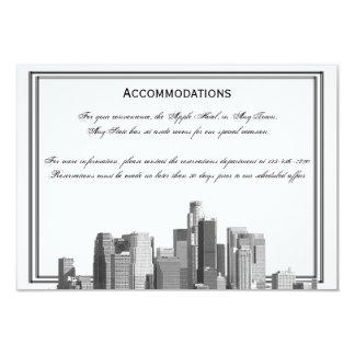 Houston Destination Wedding Accomodations Personalized Announcements