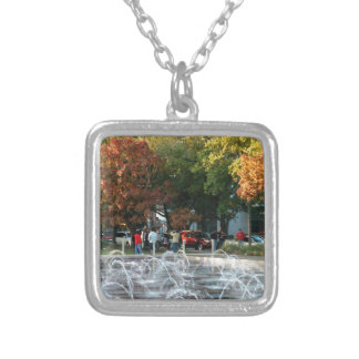 Houston Discovery Green Square Pendant Necklace