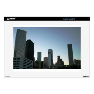 "Houston Downtown Skyline 2 15"" Laptop Skins"