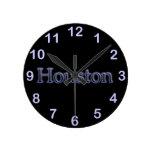 Houston en gris y azul - en negro reloj