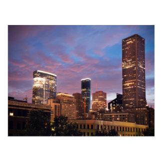 Houston en la noche tarjetas postales
