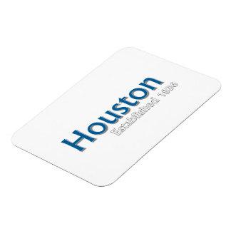 "Houston Established 3""x4"" Flexible Magnet"