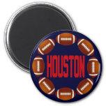 HOUSTON FOOTBALL CIRCLE MAGNET