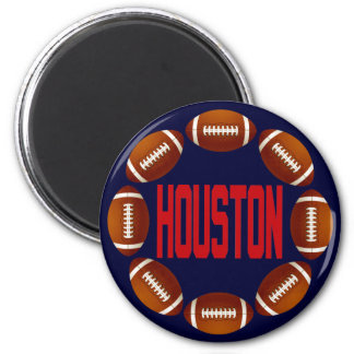 HOUSTON FOOTBALL CIRCLE MAGNET