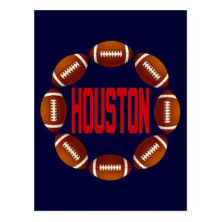 HOUSTON FOOTBALL CIRCLE POSTCARD