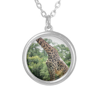 Houston Giraffe Round Pendant Necklace