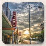 "Houston Heights 19th Street Vintage Theater Unique Drink Coaster<br><div class=""desc"">Vintage looking coasters feature the historical Houston Heights theater and 19th Street in Houston. This building is a popular landmark in the oldest area of Houston. Coasters have a corked back to prevent sliding and scratching furniture. Photo &#169; by T.K. Goforth. All rights reserved. Other items featuring this image can...</div>"