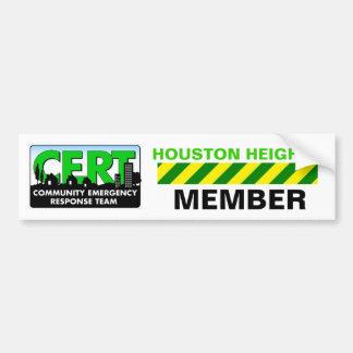 Houston Heights CERT Sticker Car Bumper Sticker