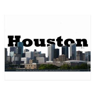 Houston, horizonte de TX con Houston en el cielo Postal