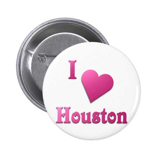 Houston -- Hot Pink Pinback Button