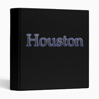 Houston in Grey and Blue - On Black Binder