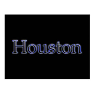 Houston in Grey and Blue - On Black Postcard