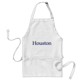 Houston in Grey and Blue - On White Adult Apron