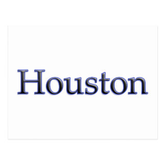Houston in Grey and Blue - On White Postcard