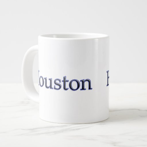 Houston in Grey and Blue - On White Extra Large Mugs