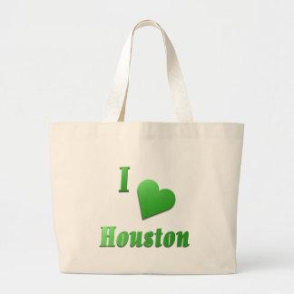 Houston -- Kelly Green Large Tote Bag