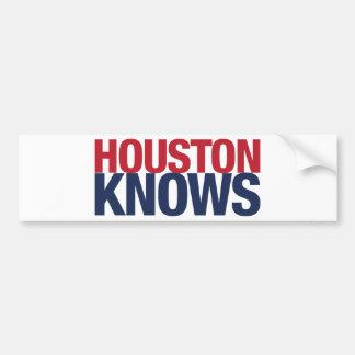 Houston Knows Bumper Sticker