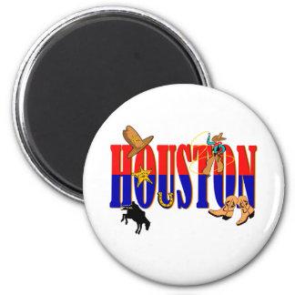 Houston Pics 2 Inch Round Magnet