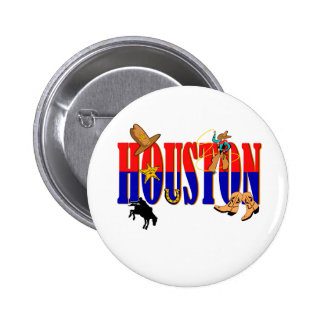 Houston Pics 2 Inch Round Button