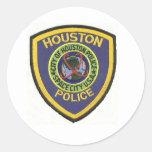 houston police classic round sticker