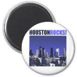 Houston Rocks! 2 Inch Round Magnet