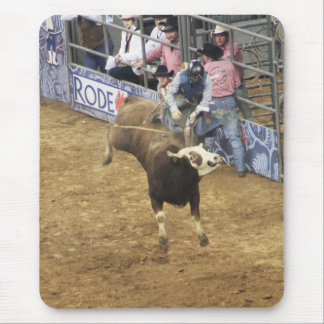Houston Rodeo Bull Riding Cowboy Mouse Pad