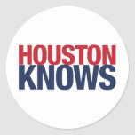 Houston sabe etiquetas redondas