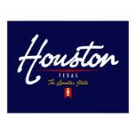 Houston Script Postcard