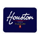 Houston Script Rectangle Magnet