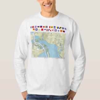 Houston Ship Channel Atkinson Island chart T-shirt