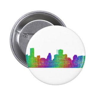 Houston skyline 2 inch round button