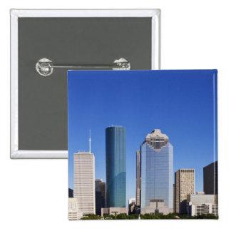 Houston Skyline 2 Inch Square Button