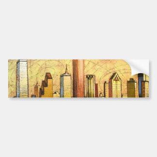 Houston Skyline Bumper Sticker