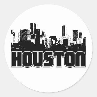 Houston Skyline Classic Round Sticker