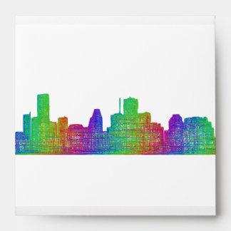 Houston skyline envelope
