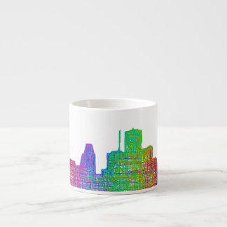 Houston skyline espresso cup