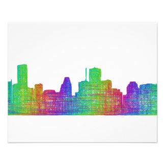 Houston skyline flyer