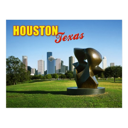 Houston Skyline from Eleanor Tinsley Park, TX Postcard