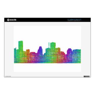 Houston skyline laptop skins