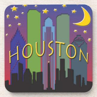 Houston Skyline nightlife Coaster