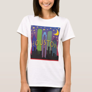 Houston Skyline nightlife T-Shirt