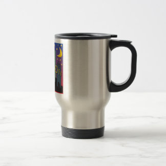 Houston Skyline nightlife Travel Mug