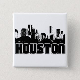Houston Skyline Pinback Button